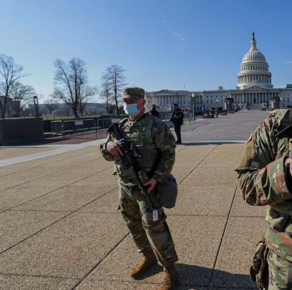 Frank Luna spotted while deployed with the N.J. National Guard in D.C.