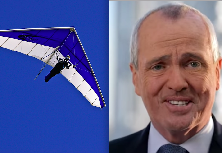 Today's thing that's less deadly than a Murphy-regulated N.J. nursing home: hang gliding!