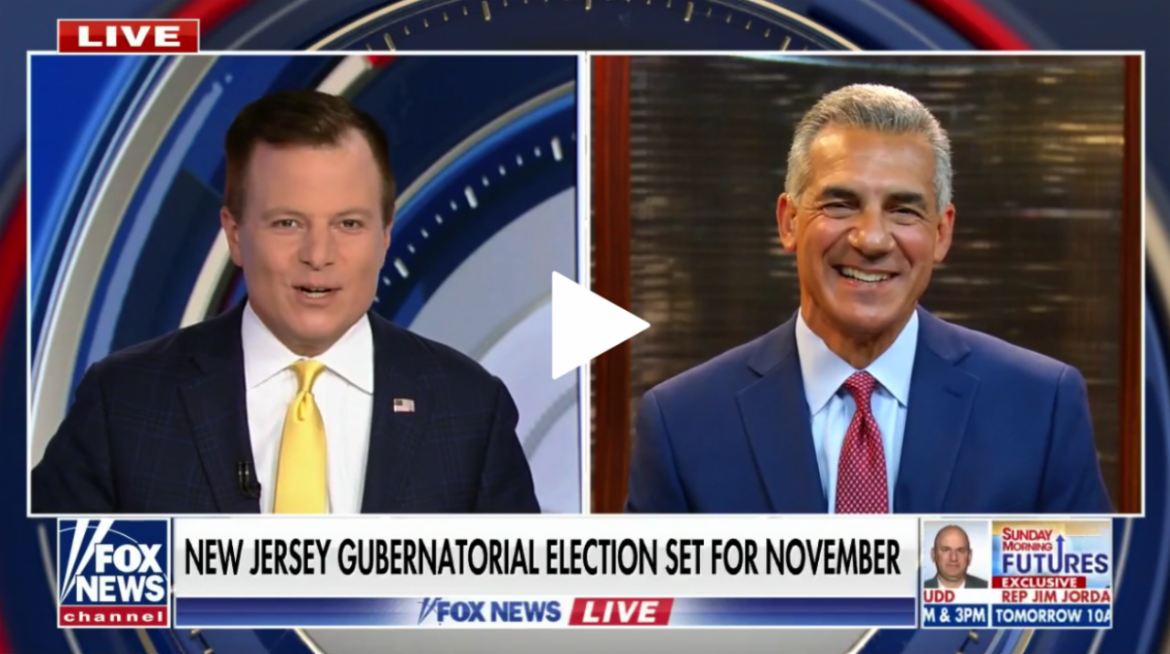 """Ciattarelli on Fox News: N.J. has """"more Democrats than Republicans but they're not stupid"""""""